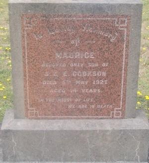 Picture of Taruheru cemetery, block SEC3, plot 1150.
