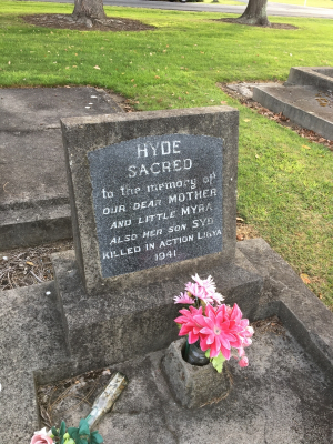 Picture of Taruheru cemetery, block SEC3, plot 921.