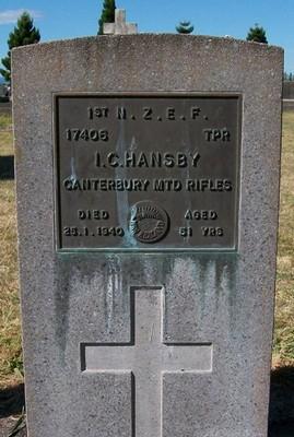 Picture of Taruheru cemetery, block S, plot 117.