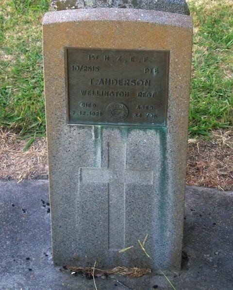 Picture of Taruheru cemetery, block S, plot 14.