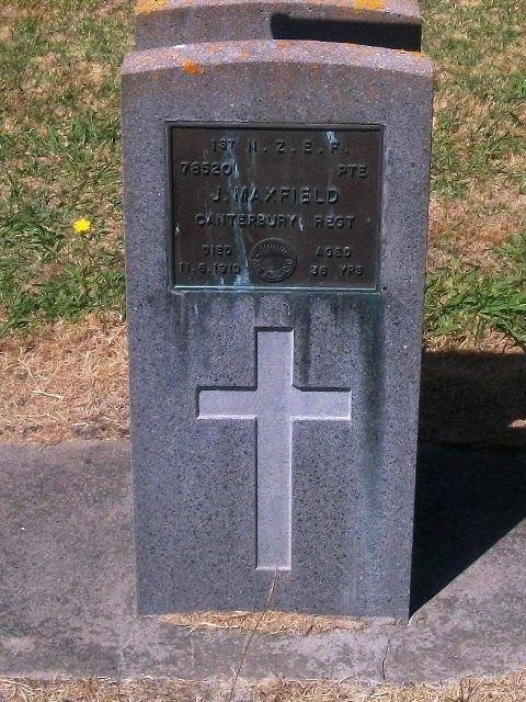 Picture of Taruheru cemetery, block S, plot 4.