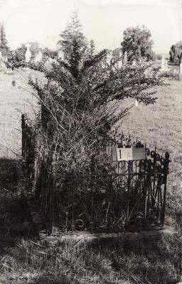 Historic picture of Makaraka cemetery, block MKAFS, plot 1A.