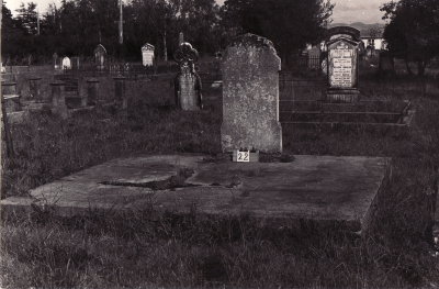 Historic picture of Makaraka cemetery, block MKA, plot 22.