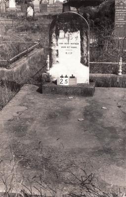 Historic picture of Makaraka cemetery, block MKA, plot 24.