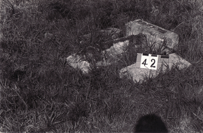 Historic picture of Makaraka cemetery, block MKA, plot 42.