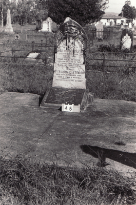 Historic picture of Makaraka cemetery, block MKA, plot 45.