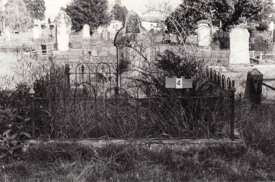Historic picture of Makaraka cemetery, block MKA, plot 4A.