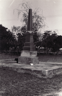 Historic picture of Makaraka cemetery, block MKA, plot 52.