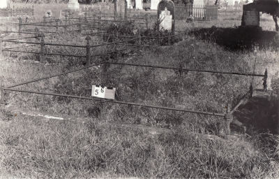 Historic picture of Makaraka cemetery, block MKA, plot 56.