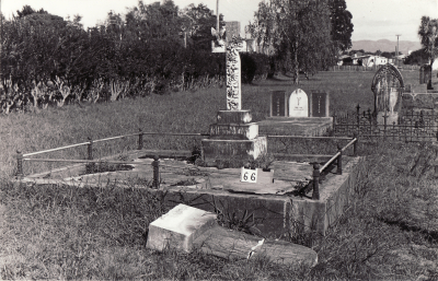 Historic picture of Makaraka cemetery, block MKA, plot 66B.