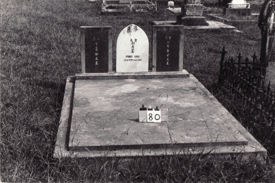 Historic picture of Makaraka cemetery, block MKA, plot 80.