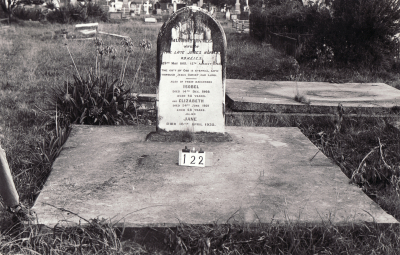 Historic picture of Makaraka cemetery, block MKB, plot 122.