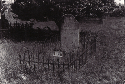 Historic picture of Makaraka cemetery, block MKB, plot 139.