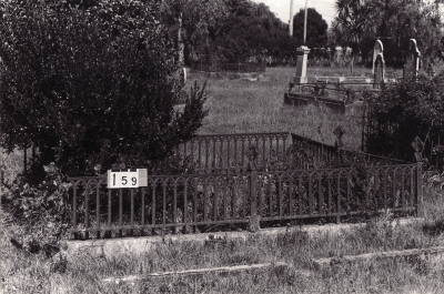 Historic picture of Makaraka cemetery, block MKB, plot 159.