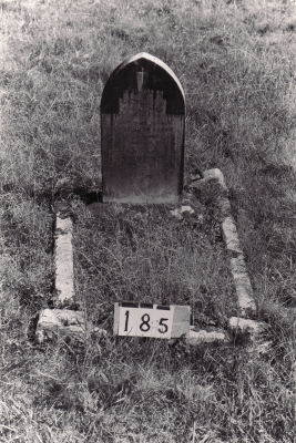 Historic picture of Makaraka cemetery, block MKB, plot 185A.