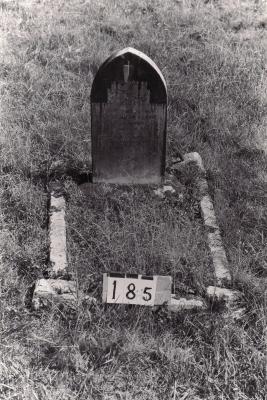 Historic picture of Makaraka cemetery, block MKB, plot 185A.