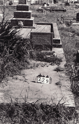 Historic picture of Makaraka cemetery, block MKB, plot 229.
