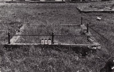 Historic picture of Makaraka cemetery, block MKB, plot 633.