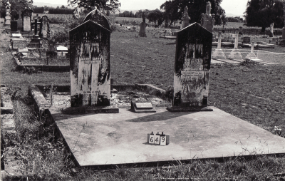 Historic picture of Makaraka cemetery, block MKB, plot 649.
