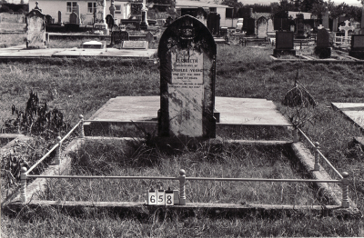 Historic picture of Makaraka cemetery, block MKB, plot 658.