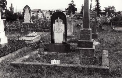 Historic picture of Makaraka cemetery, block MKB, plot 92.