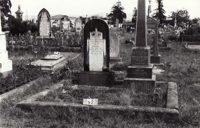 Historic picture of Makaraka cemetery, block MKB, plot 92.
