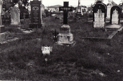 Historic picture of Makaraka cemetery, block MKB, plot 93A.