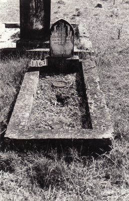 Historic picture of Makaraka cemetery, block MKC, plot 1167.