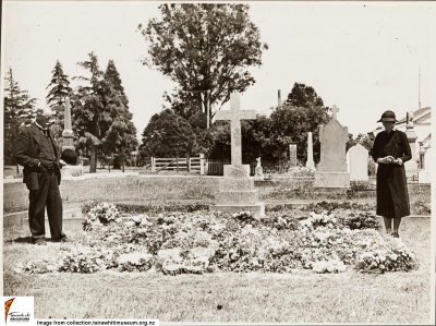 Historic picture of Makaraka cemetery, block MKC, plot 1170.