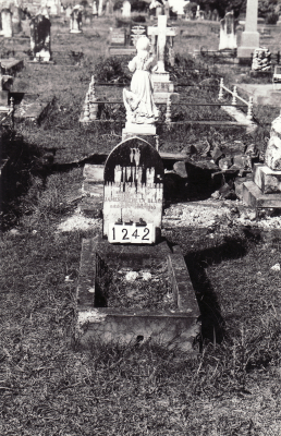 Historic picture of Makaraka cemetery, block MKC, plot 1242.
