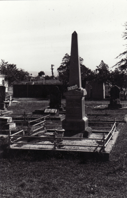 Historic picture of Makaraka cemetery, block MKC, plot 1250.