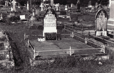Historic picture of Makaraka cemetery, block MKC, plot 1277.