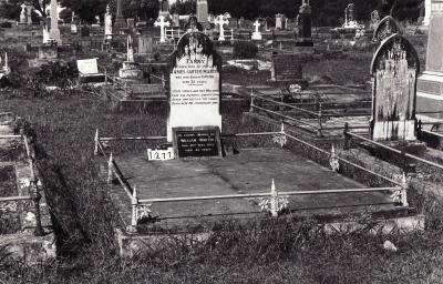 Historic picture of Makaraka cemetery, block MKC, plot 1277.