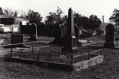 Historic picture of Makaraka cemetery, block MKC, plot 1350.