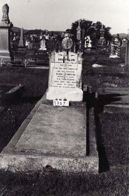 Historic picture of Makaraka cemetery, block MKC, plot 1357A.
