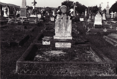 Historic picture of Makaraka cemetery, block MKC, plot 1361.