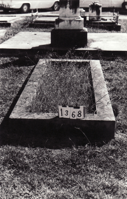 Historic picture of Makaraka cemetery, block MKC, plot 1368.