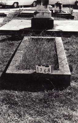Historic picture of Makaraka cemetery, block MKC, plot 1368.