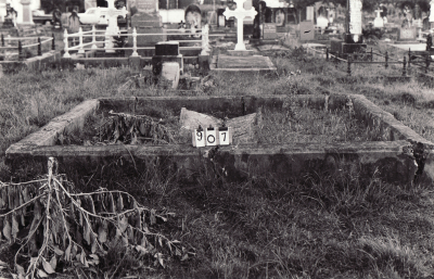 Historic picture of Makaraka cemetery, block MKC, plot 907.