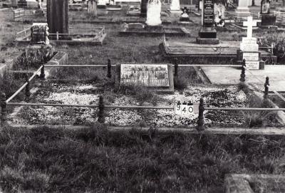 Historic picture of Makaraka cemetery, block MKC, plot 940.