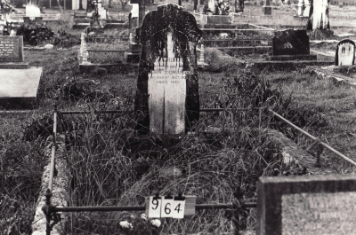 Historic picture of Makaraka cemetery, block MKC, plot 964.