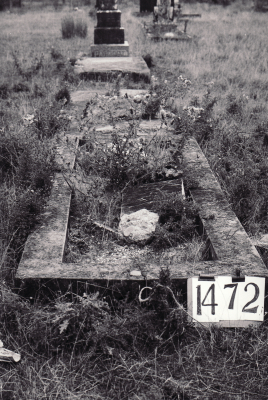 Historic picture of Makaraka cemetery, block MKE, plot 1472.