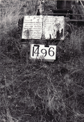 Historic picture of Makaraka cemetery, block MKE, plot 1496.