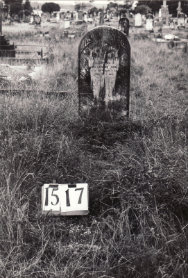 Historic picture of Makaraka cemetery, block MKE, plot 1517.