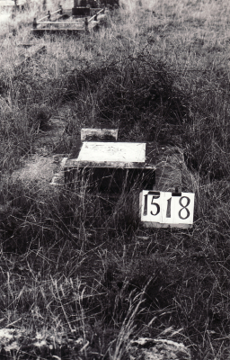 Historic picture of Makaraka cemetery, block MKE, plot 1518.