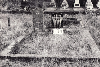 Historic picture of Makaraka cemetery, block MKE, plot 1529.