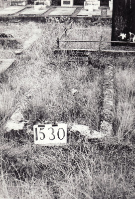 Historic picture of Makaraka cemetery, block MKE, plot 1530.