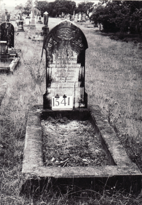 Historic picture of Makaraka cemetery, block MKE, plot 1541.