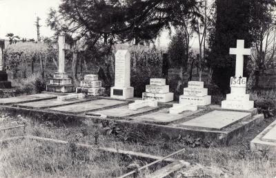 Historic picture of Makaraka cemetery, block MKE, plot 1546.