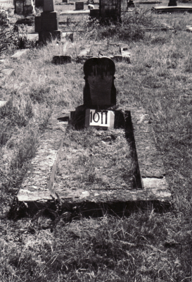 Historic picture of Makaraka cemetery, block MKF, plot 1011.